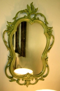 Ornate Green Mirror