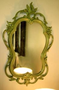 Ornate Green Mirror
