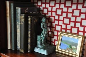 statue book holder
