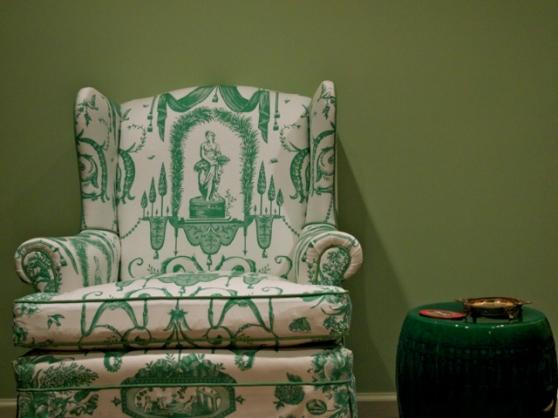 Grecian Toile Chair