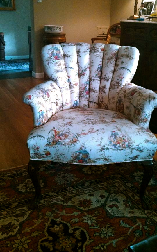Asian Toile Chair