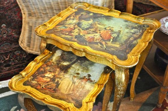 ornate stacking tables