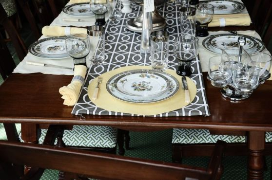 Yellow Elegant Table Setting