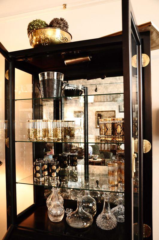 Bar Ware in Dresser