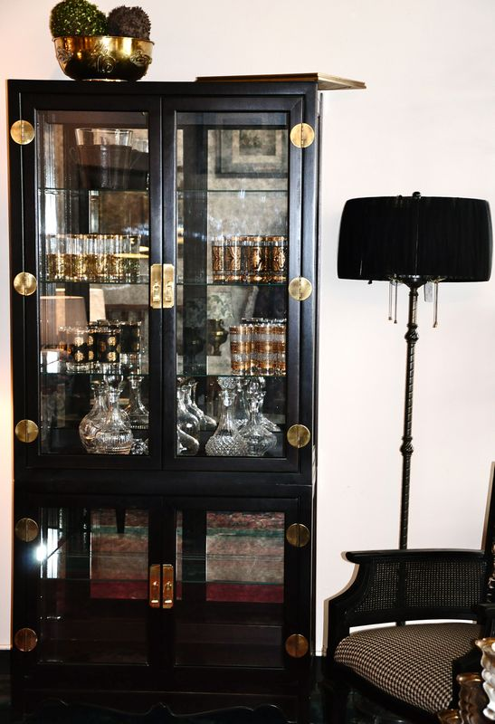 Black and Gold Hutch