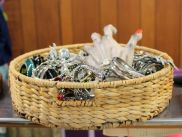 If you've got a vintage weave basket laying around, turn it into a candy basket. Add a ghoulish hand as a surprise to anyone reaching in for a treat. Via Pinterest: http://www.pinterest.com/pin/110127153361568432/